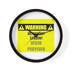 WARNING: Vet Student Under Pressure Wall Clock