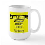 WARNING: Vet Student Under Pressure Large Mug