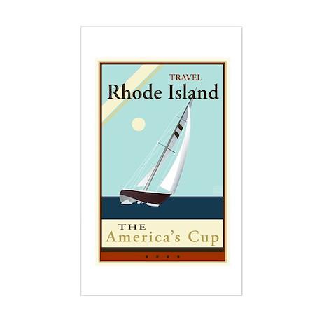Travel Rhode Island Sticker (Rectangle)
