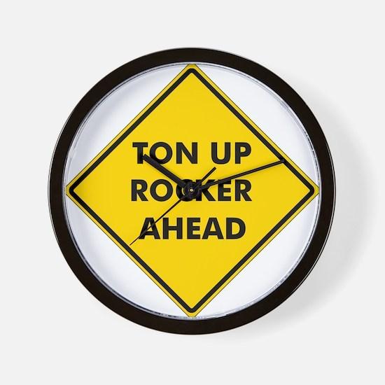 Ton Up Rocker Wall Clock