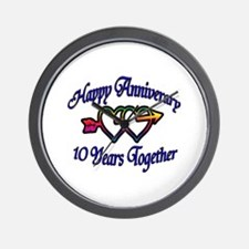 Funny 10th wedding anniversary Wall Clock