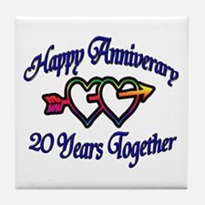 Funny 20th anniversary Tile Coaster