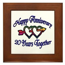 Funny 50th wedding anniversary party Framed Tile