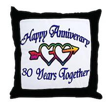 Funny 30th wedding anniversary Throw Pillow