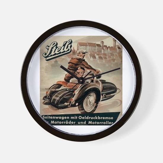 Sidecar Wall Clock