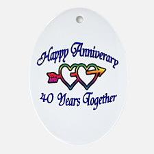 Cool Wedding anniversaries Oval Ornament