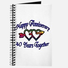 Cool 25th wedding anniversary party favors Journal
