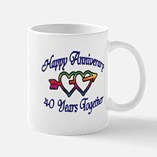 Unique Fortieth anniversary Mug
