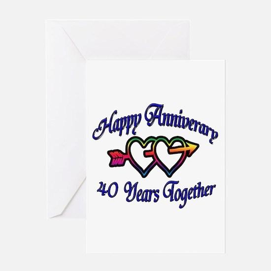 40th wedding anniversary Greeting Card