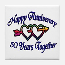Unique Wedding anniversary party Tile Coaster