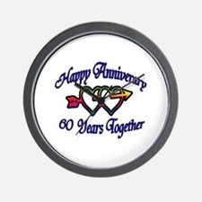 Cool 60th anniversary Wall Clock