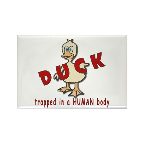 Duck Trapped Rectangle Magnet (10 pack)