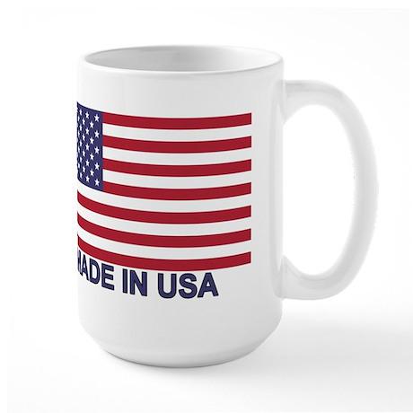 MADE IN USA (w/flag) Large Mug