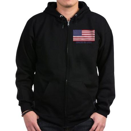 MADE IN USA (w/flag) Zip Hoodie (dark)