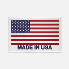 MADE IN USA (w/flag) Rectangle Magnet