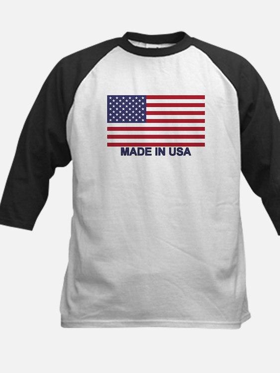 MADE IN USA (w/flag) Kids Baseball Jersey