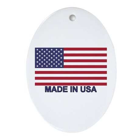 MADE IN USA (w/flag) Ornament (Oval)