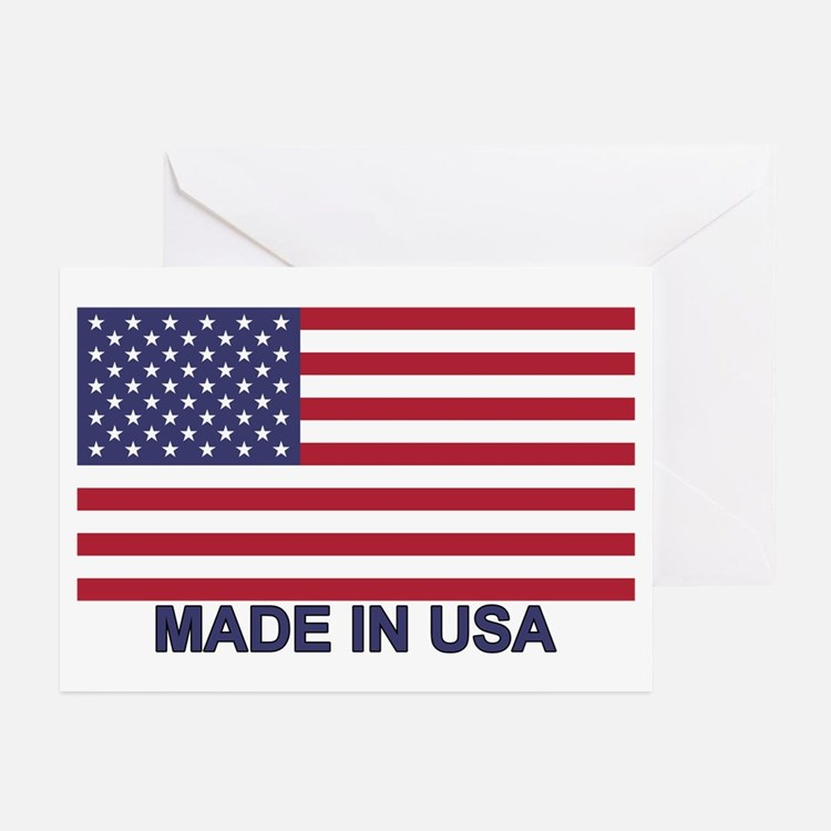 MADE IN USA (w/flag) Greeting Cards (Pk of 20)