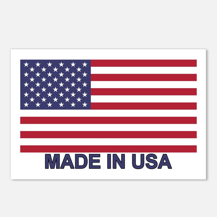 MADE IN USA (w/flag) Postcards (Package of 8)