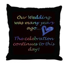 Tenth wedding anniversary Throw Pillow