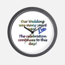 10th wedding anniversary Wall Clock