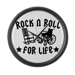 Rock and Roll Large Wall Clock