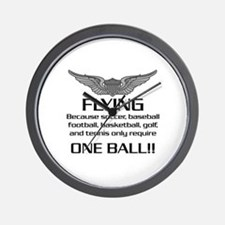 Flying... One Ball! - Army Style Wall Clock