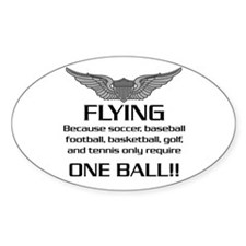 Flying... One Ball! - Army Style Decal