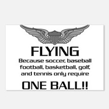 Flying... One Ball! - Army Style Postcards (Packag