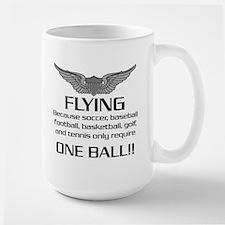 Flying... One Ball! - Army Style Mug