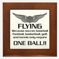 Flying... One Ball! - Army Style Framed Tile