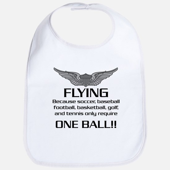 Flying... One Ball! - Army Style Bib