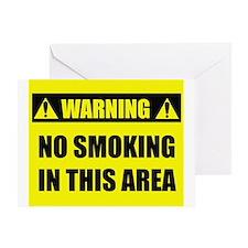 WARNING: No Smoking Greeting Card