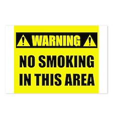 WARNING: No Smoking Postcards (Package of 8)