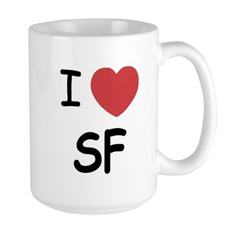 I heart SF Large Mug