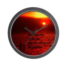 Keep your eye on the sun Wall Clock