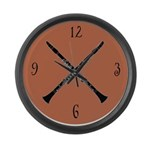 Oboe Music Large Wall Clock