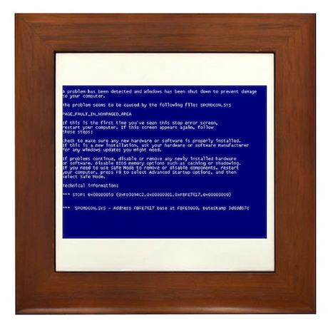"""Windows """"Blue Screen of Death"""" Framed Tile"""