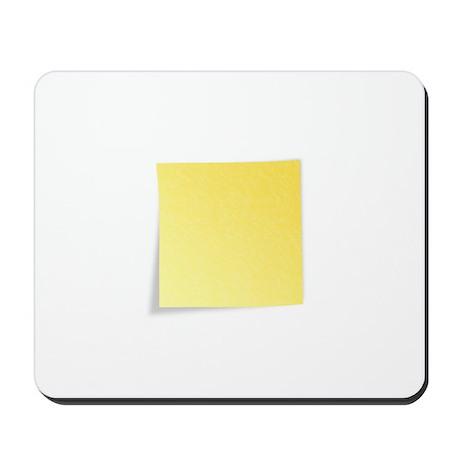 Blank Yellow Post-It Note Mousepad