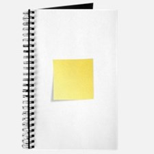 Blank Yellow Post-It Note Journal