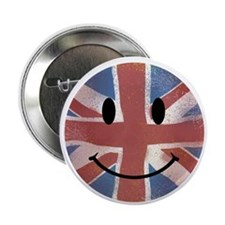 """Happy Union Jack 2.25"""" Button"""