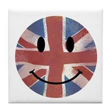 Happy Union Jack Tile Coaster