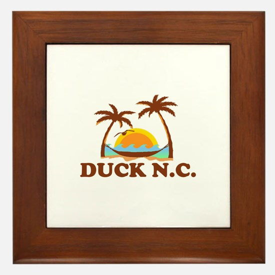 Duck NC - Palm Trees Design Framed Tile
