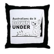 Australians do it down under -  Throw Pillow