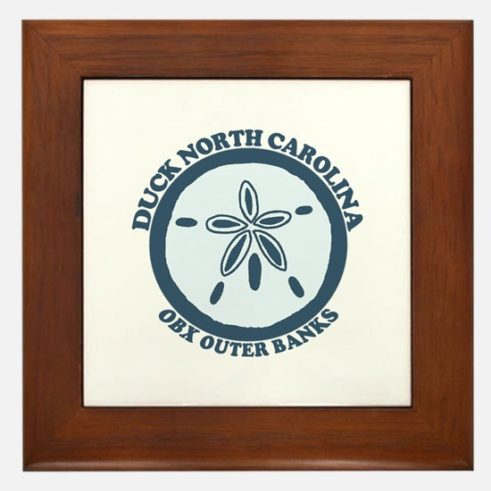 Duck NC - Sand Dollar Design Framed Tile