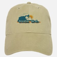 Duck NC - Waves Design Baseball Baseball Cap