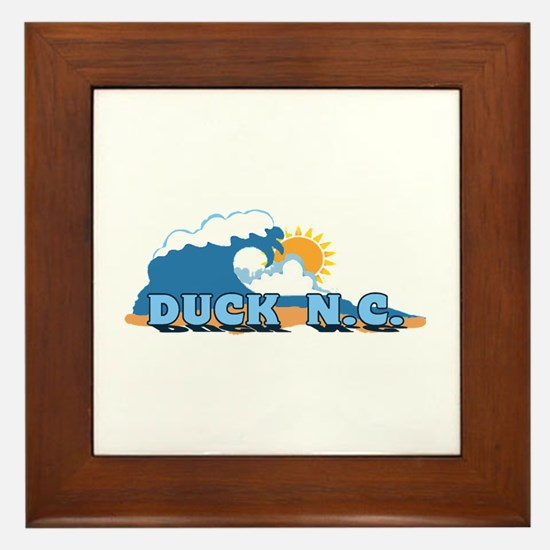 Duck NC - Waves Design Framed Tile