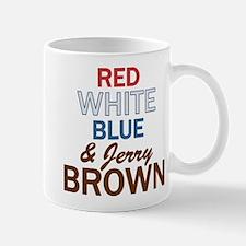 Red, White, Blue & Brown 2 Mug