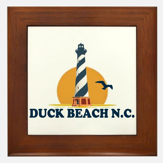 Duck NC - Lighthouse Design Framed Tile