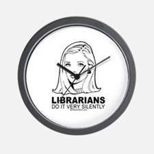 Librarians do it with silence -  Wall Clock